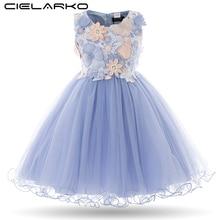 Cielarko crianças meninas vestido de flor do bebê menina borboleta vestidos de festa de aniversário princesa fantasia vestido de baile roupas de casamento