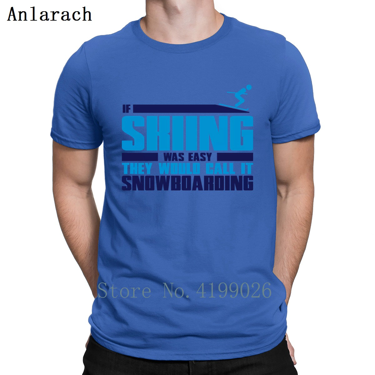 If Skiing Was Easy They Call It Snowboarding Tshirt Create Cotton Spring Costume Fitness Tshirt For Men New Style Family