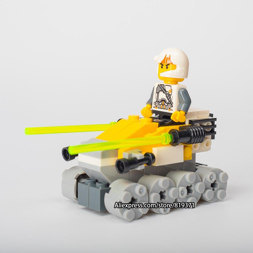 73 шт. подарок на день рождения кирпичи для детей серии Star Wars турбины танкостроения Блоки комплект Игрушечные лошадки Совместимость с Лепин ...
