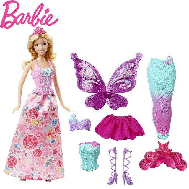 Barbie Original Brand Mermaid Dress Up Puppe Funktion Meerjungfrau ...