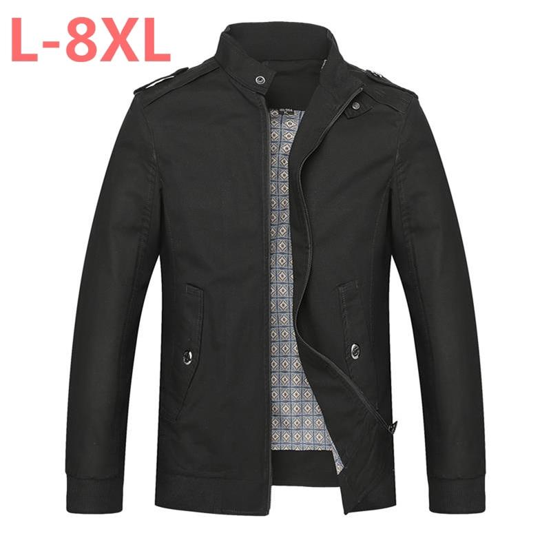 Grande taille 10XL 9XL 8XL 6XL 5XL 4XL marque automne vestes décontractée manteau hommes solides hommes manteaux vêtements grande taille hommes vêtements