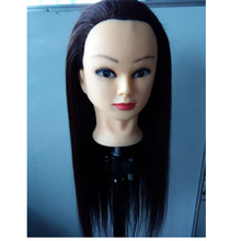 60% Human Hair Mannequin Head Great Quality Natural Hairdressing Dolls For Beauty Salon