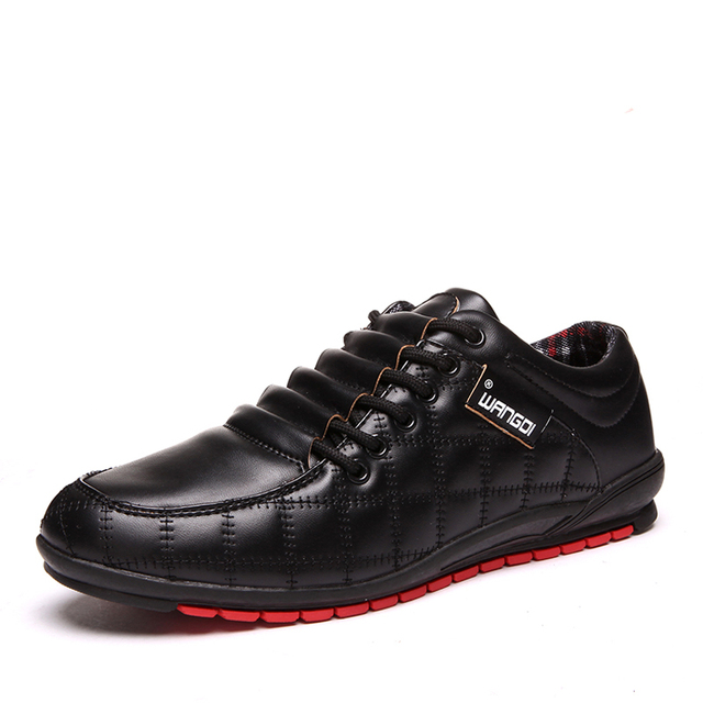 Winter Super Warm Fashion Black Men Casual Shoes With Cotton Lace Up Checkered Breathable Flats For Adult c92 15