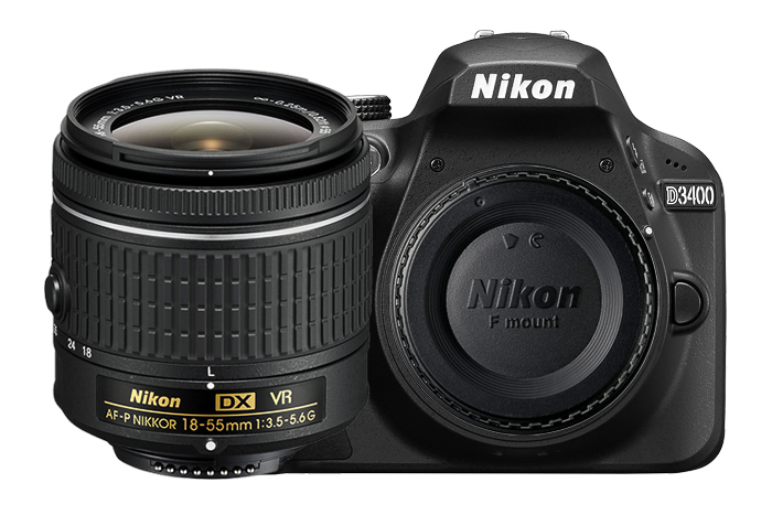 New Nikon D3400 24.2 MP Digital SLR Camera Body & AF-P DX 18-55mm Lens Kit цена и фото