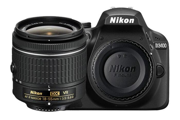 New Nikon D3400 24.2 MP Digital SLR Camera Body & AF-P DX 18