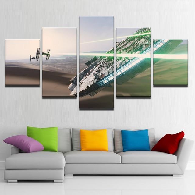 Quadri su tela Per Soggiorno Wall Art Quadro 5 Pezzi di Star Wars ...