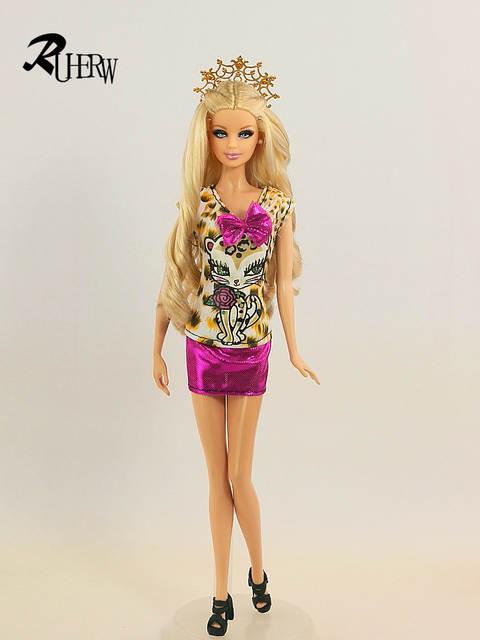 placeholder 5 Pcs lot Indah Seksi Gaun Kasual Pakaian Pesta Gaun Pakaian  untuk Boneka Barbie Gratis b99fabd08a