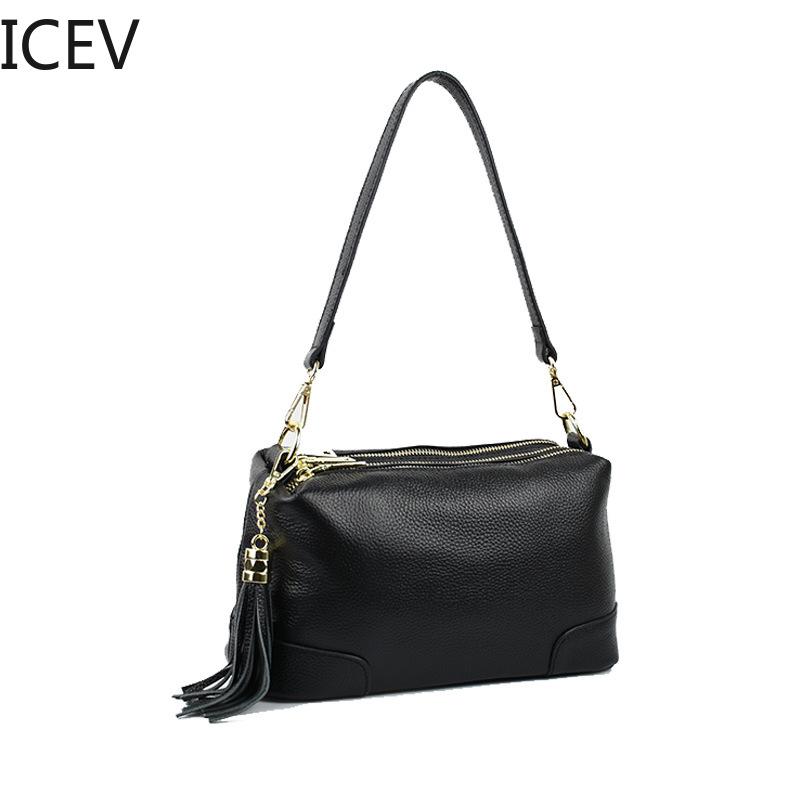 все цены на ICEV New Korean Fashion Crossbody Bags for Women Messenger Bags Handbags Women Famous Brands Genuine Leather Ladies Office Totes