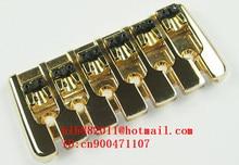 free shipping new 6 strings electric bass guitar bridge in gold SU-23