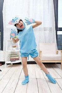 Purim/Детские костюмы с рисунками животных; Одежда для костюмированной вечеринки; Подарок динозавра, тигра, слона; Комбинезон с короткими рука...