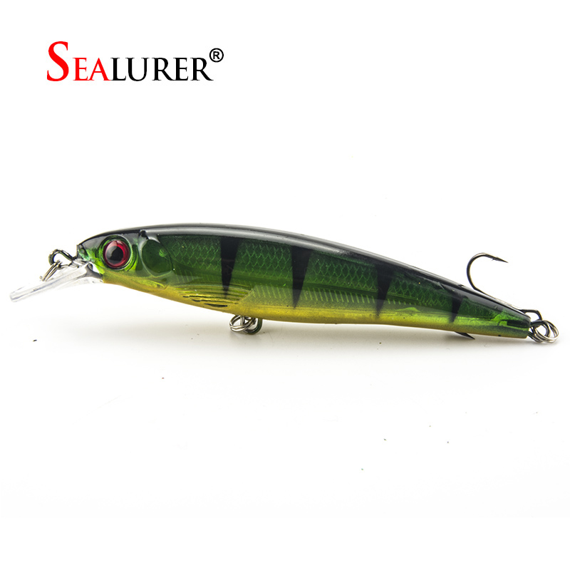Sealurer Brand 1PCS Laser Minnow Fishing Lure 11CM 13G pesca hooks fish wobbler tackle crankbait artificial japan hard bait 1pcs 12cm 14g big wobbler fishing lures sea trolling minnow artificial bait carp peche crankbait pesca jerkbait ye 37