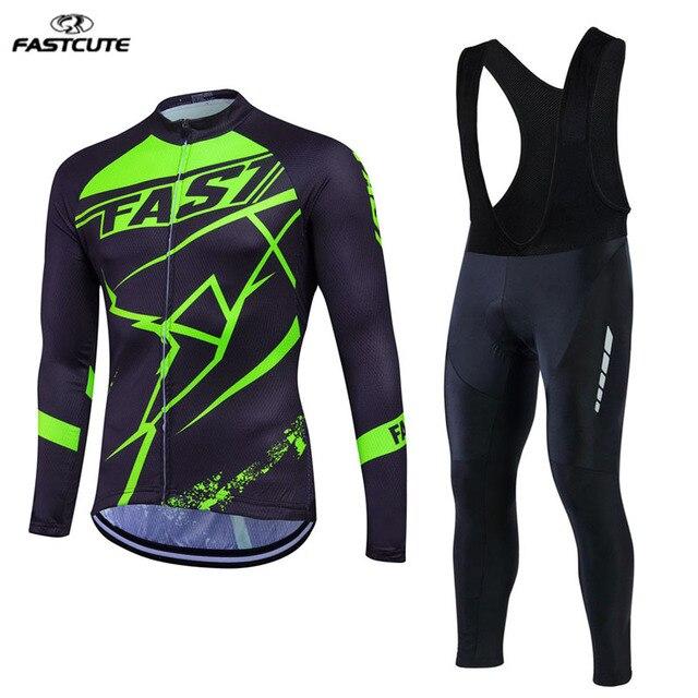 7b45e6a526b Men s unique design Pro cycling set XS-3XL long sleeve cycling jersey set  Bike Outdoor Sports Wear MTB Bicycle Clothing LS29