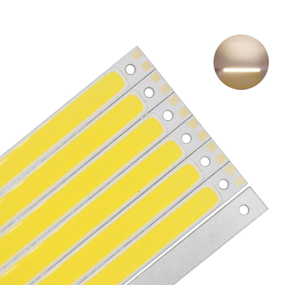 Купить с кэшбэком 10W 12V DC dimmable wiht RF remmote controller 120x10mm COB LED light source Warm White Blue Red Green for DIY auto strip lamp