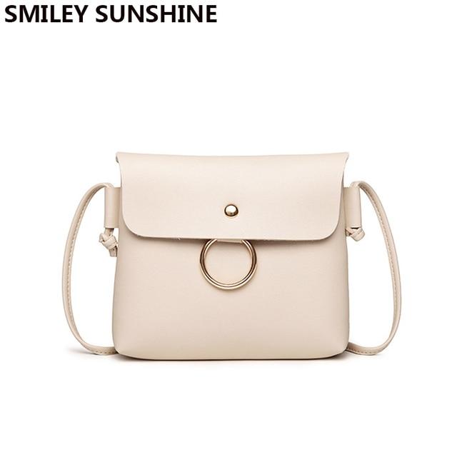 SMILEY SUNSHINE Small Women Messenger Bags High Quality Crossbody Bag PU  Leather Mini Female Shoulder Bag Clutch Handbag Bolsas 0abb7aa403bd6