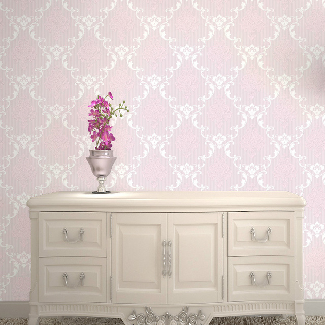 Light Pink Wallpaper Decorative Flower Wallpaper Damask Beautiful - Light pink wallpaper for bedrooms
