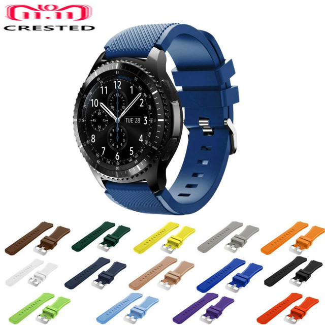 CRESTED Gear S3 Frontier Strap For Samsung Galaxy Watch 46mm/Classic 22mm watch