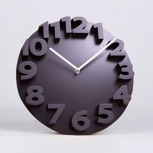 Modern minimalist creative clock living room 3D stereo digital art fashion watch watch large personality