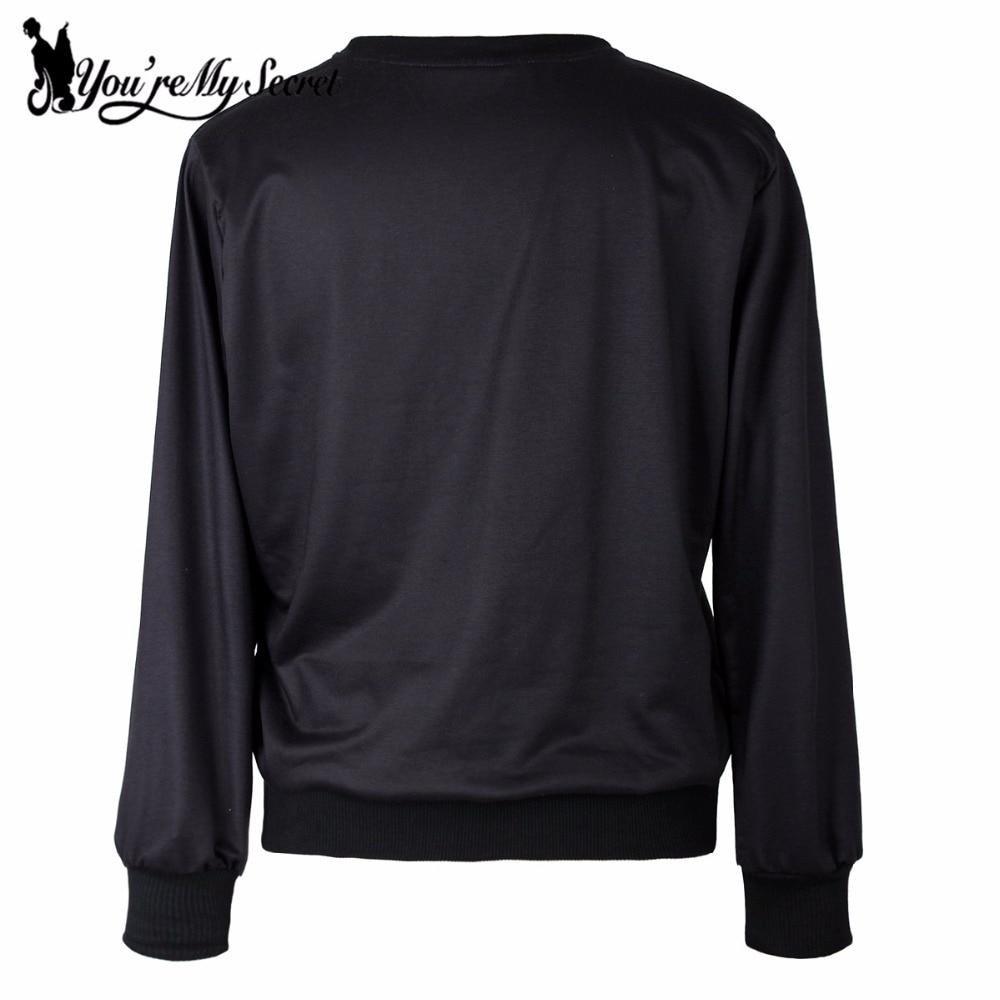 [Youre My Secret] New Arrival Autumn Moleton Feminino Black Eyes Cat Digital Print Hoodies Women Sweatshirt Sleeveled Suit