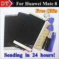 Alta Qualidade New Display LCD + Touch Screen Digitador Assembléia Vidro para huawei mate8 mate 8 celular 6.0 polegada brindes