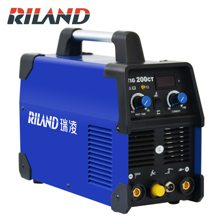 RILAND 220 V TIG200CT TIG Inverter Schweiß Maschine Inverter Schweißen Argon Tig Schweißer Für Löten Arbeits