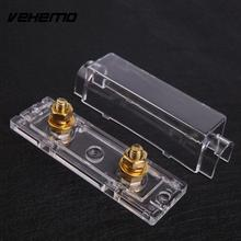Vehemo Fuse Holder Box Case Distribution Fuseholder 100A 400A Gauge Cable Inline Block 0/4/8(China)