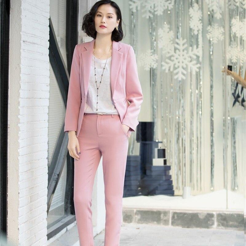 Elegante Signore Tailleur Con E Pantaloni Le Lavoro Set white Giubbotti Pantalone Uniformi black Rosa Plus Per Formale Delle Donne Pink Di Size Ufficio Abiti Del Usura Giacche zqqTd