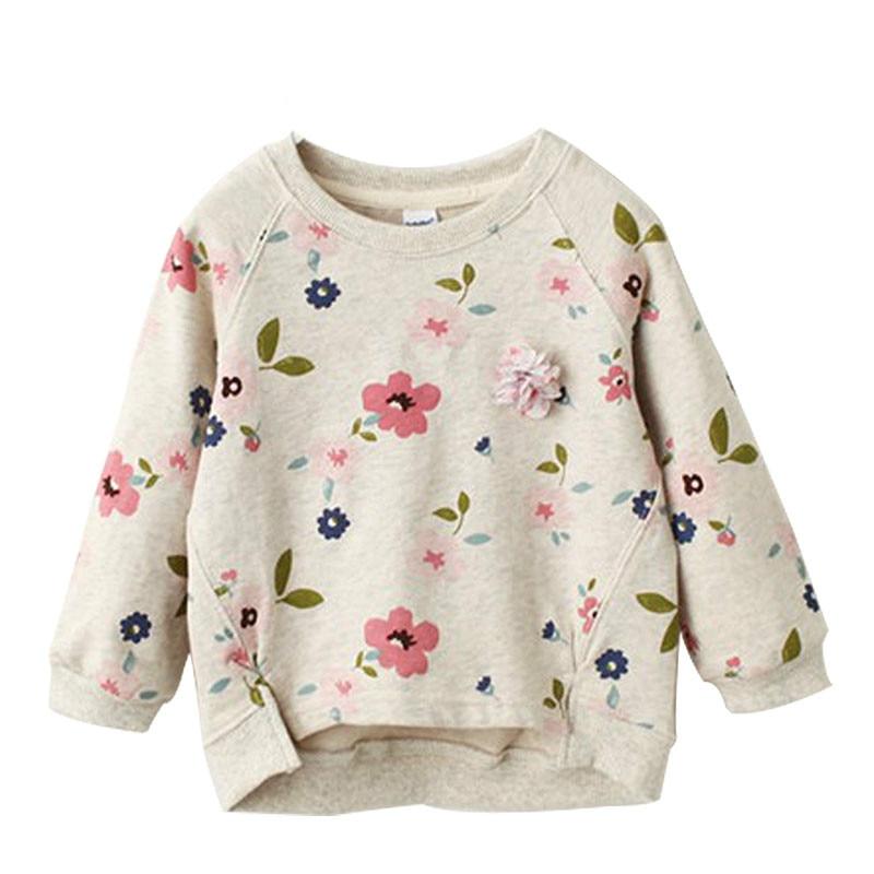 Girls tshirt Long Sleeve Flower Printing Children Clothing Tees Girl Sweatshirt Casual Spring Autumn Kids Girl Clothes