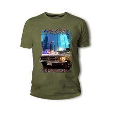 Amerikanischen Klassische Muskel Auto Mustang 1967 Braun Schwarz Auto Mens T Shirts Mode 2019 Männer Harajuku Hip Hop Marke Mens tees