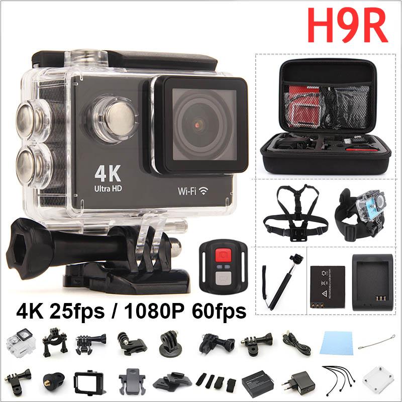 Prix pour D'origine H9R Action cam à distance Ultra HD 4 K WiFi 1080 P/60fps 2.0 LCD 170D Casque Cam étanche gopro hero 4 style RICH