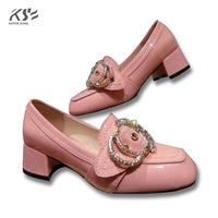 Women Leather Pumps Shoes Metal Really Leather Shoes Fashional Patent Genuine Leather Luxury Designer Comfortable Flats