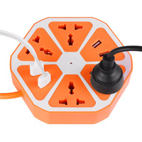 Orange 4 Usb-anschluss + 4 Stecker Loch EU 220 V steckdose stecker 4 outlet, smart home-schalter für iphone Android PC Laptop Blau Rosy