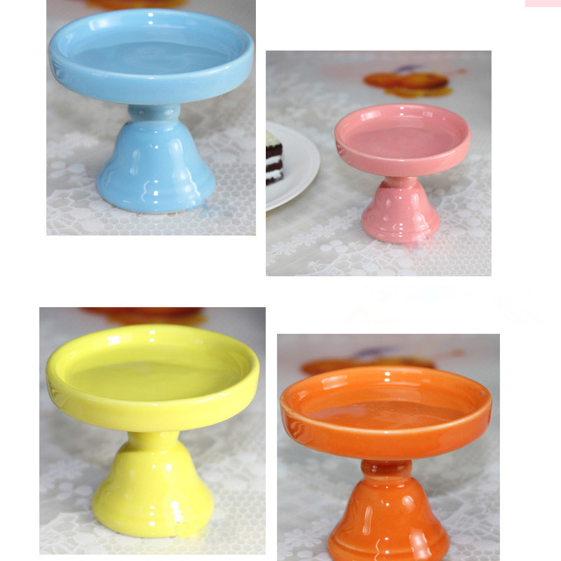 Mini Ceramic Cake Pan Cake Stand Wedding Dessert Plate