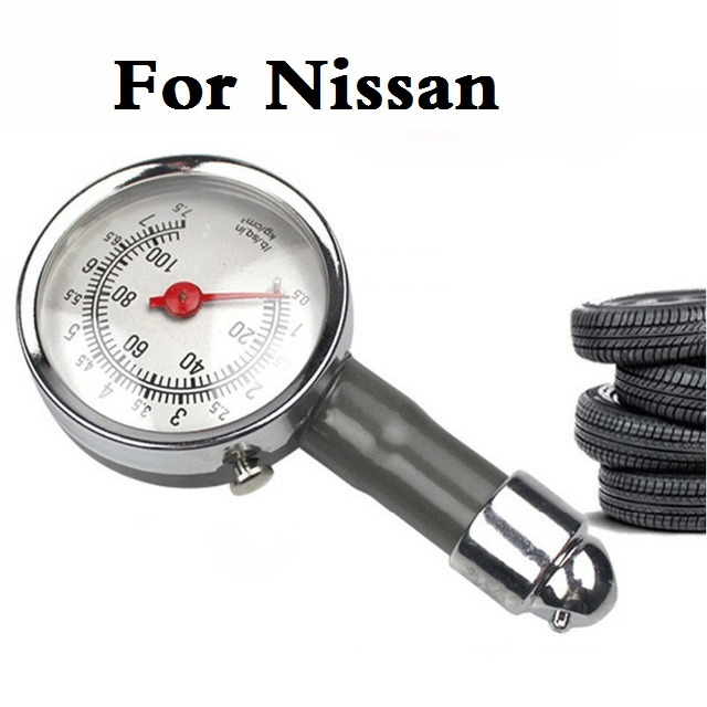 1Pcs Metal Car tire pressure gauge AUTO repair test tool For Nissan Maxima Micra Moco Murano Note rt Fairlady Z Figaro Fuga Leaf  цены