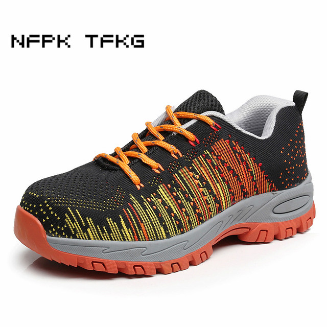 c458819debb plus size men steel toe covers working safety shoes outdoors breathable  mesh non slip tooling security boots protective footwear-in Work & Safety  ...
