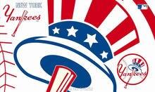 New York Yankees two logos Flag 150X90CM MLB 3×5 FT Banner 100D Polyester Custom flag grommets 6038,free shipping