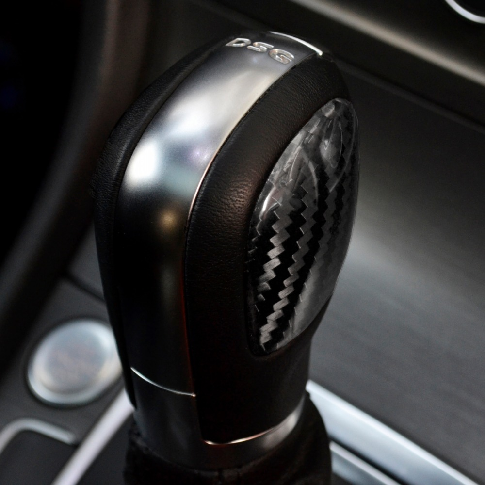 Real <font><b>Carbon</b></font> Fiber DSG shift knobs emblem badge fit <font><b>VW</b></font> MK7 <font><b>golf</b></font> <font><b>7</b></font> Passat B8 CC image