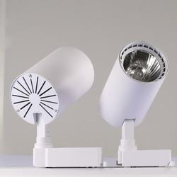 COB 10W 20W 30W oświetlenie szynowe led aluminiowa szyna sufitowa oświetlenie drogi Spot Rail reflektory wymienić lampy halogenowe AC220V w Oświetlenie toru od Lampy i oświetlenie na