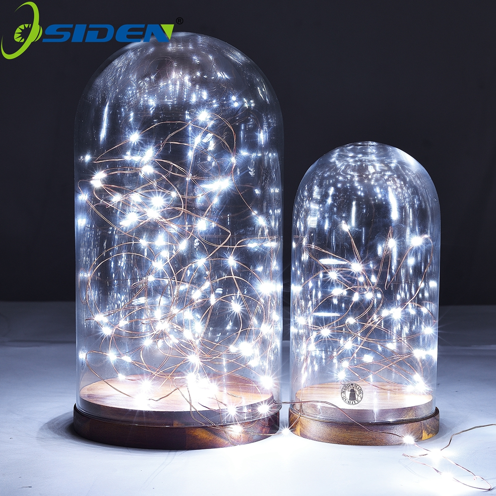 LED String Silver Christmas Lights Battery Powered Decorative 2M/4M/1m Warm White White for Christmas Wedding Party waterproof 15w 500lm 28 led rgb christmas small fish decorative modeling string light white 4m ac 220v