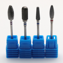 Kesinail High Quality sliver Carbide Smooth Top Burr Nail Drill Bit Electric Drill Accessorie Manicure Nail Art UV LED Gel Tool