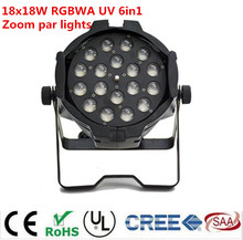 18×18 watt zoom par licht dmx lichter dj par 64 rgbwa uv 6in1 led par licht für dj party disco