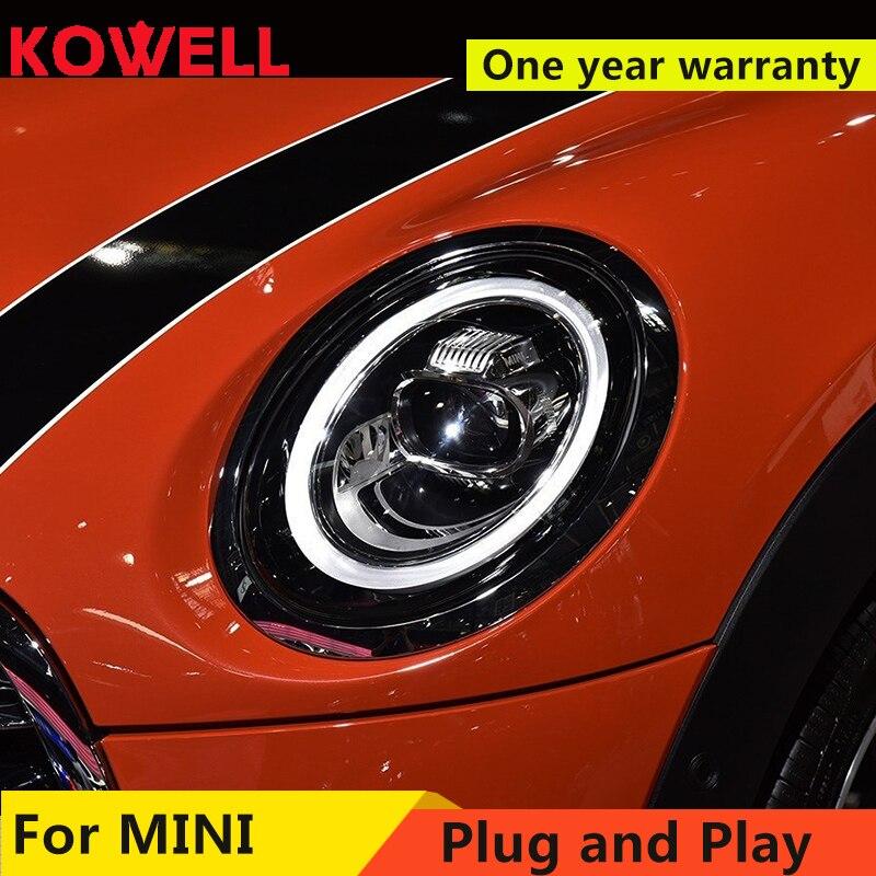 Car For 2013 2018 Mini F56 cooper headlights For F56 ALL LED head lamp Angel eye led DRL front light Bi led Lens dynamic turn