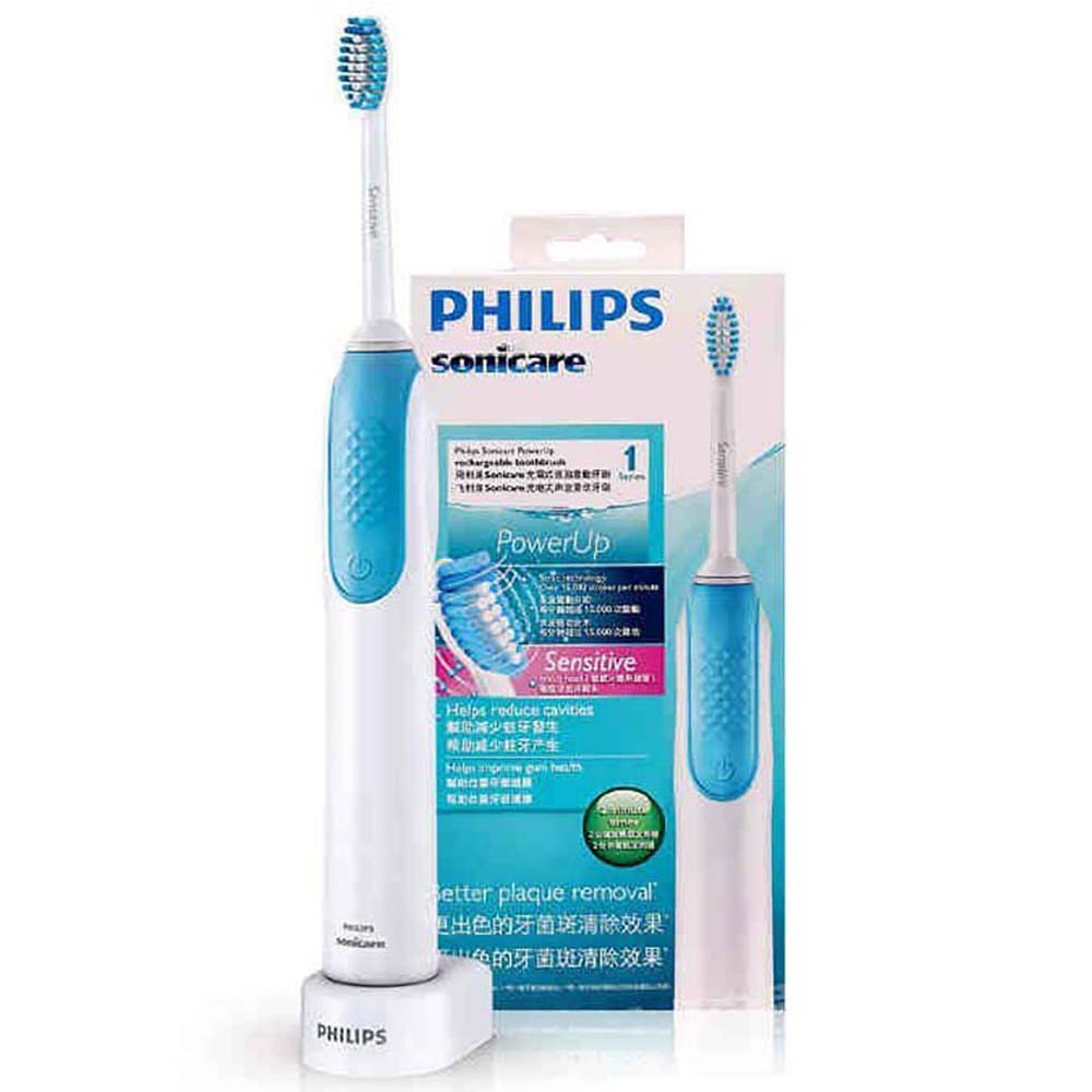Philips Sonic Electric Toothbrush HX3120 Waterproof Rechargeable 15,000 rpm with Snap-in Brush Head Support Smart Timer image