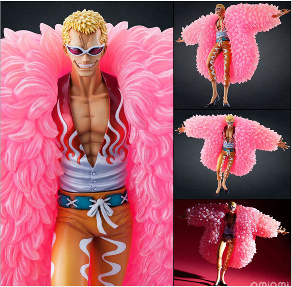 J.G Chen Anime figures One Piece PVC Action Figure POP DX Donquixote Doflamingo Model 26cm Free Shipping Japanese Anime free shipping cool 9 one piece anime p o p shichibukai the surgeon of death trafalgar law after 2 years pvc action figure model