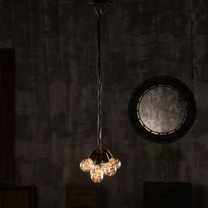 Image 5 - 4 6 8 Heads Vintage Industrial Loft Ceiling Lamps Wrought Iron Multiple Light Decor Cafe Bar Indoor Lighting Fixture