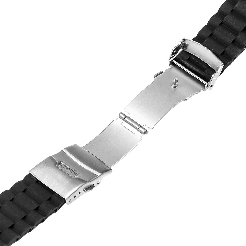 Bracelet en caoutchouc de silicone 20mm Bracelet pour Motorola Moto - Accessoires montres - Photo 4