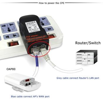 2 шт 5 ГГц Открытый CPE Лифт беспроводной мост 1-2 км Диапазон 450 Мбит/с AP маршрутизатор точка доступа Wifi ретранслятор расширитель поддержка WDS PoE