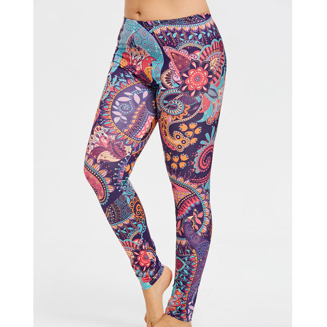 Women's Printed Plus Size Yoga Leggings  9 Styles S-5XL