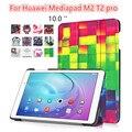 MediaPad T2 10.0 Pro Novo desenho Colorido Tampa Da Caixa de Couro capa para para huawei mediapad t2 pro fdr-a01w m2 10.1 polegadas
