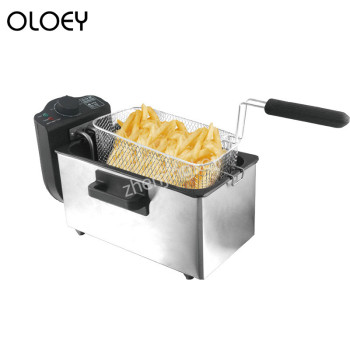 3L Electric Fryer Fries Machine Without oil Smoke Automatic Constant Temperature Commercial Fryer df5g free standing electric temperature controlled commercial deep donut large capacity chicken chip fish fryer with basket