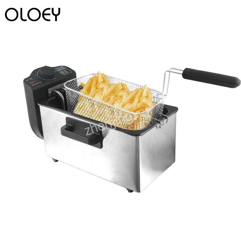 Friteuse électrique 3L frites Machine sans fumée d'huile automatique friteuse commerciale à température constante